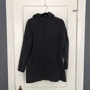 LL Bean Long Sweater Fleece Zip Up Jacket
